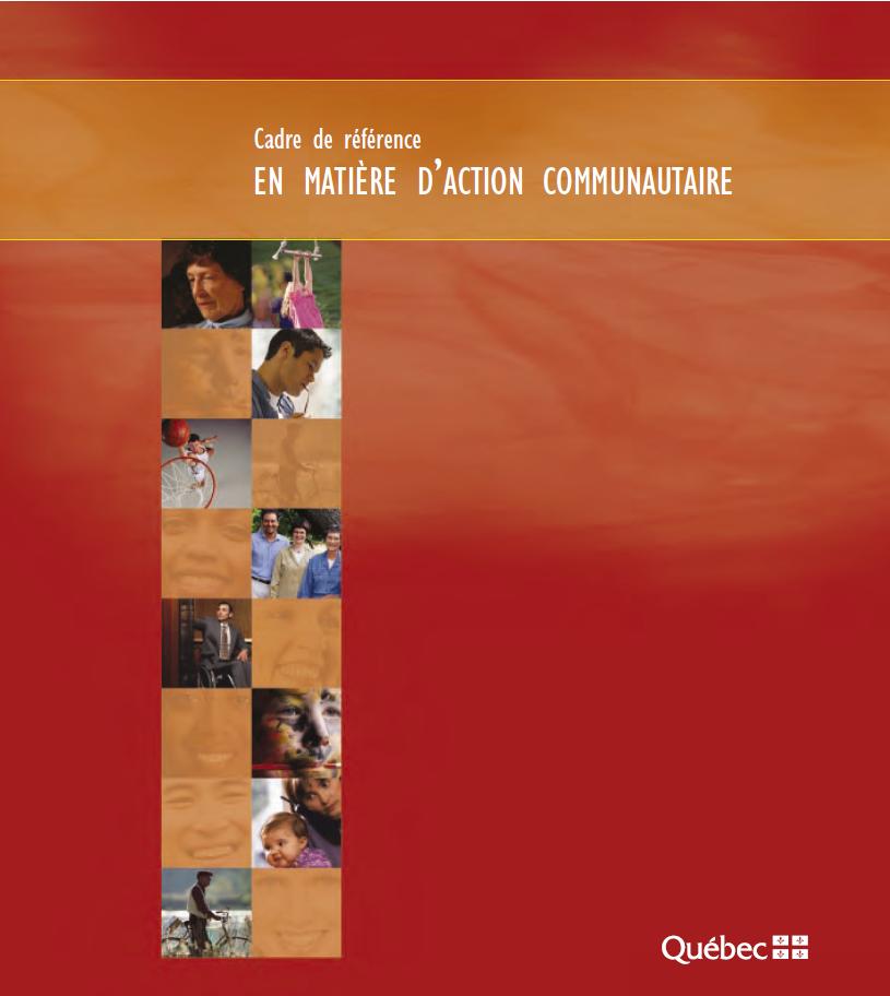 Page couverture du Cadre de référence en action communautaire