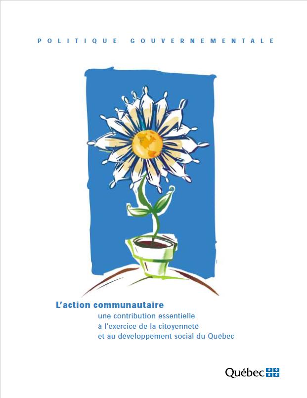 Page couverture - Politique de reconnaissance de l'action communautaire